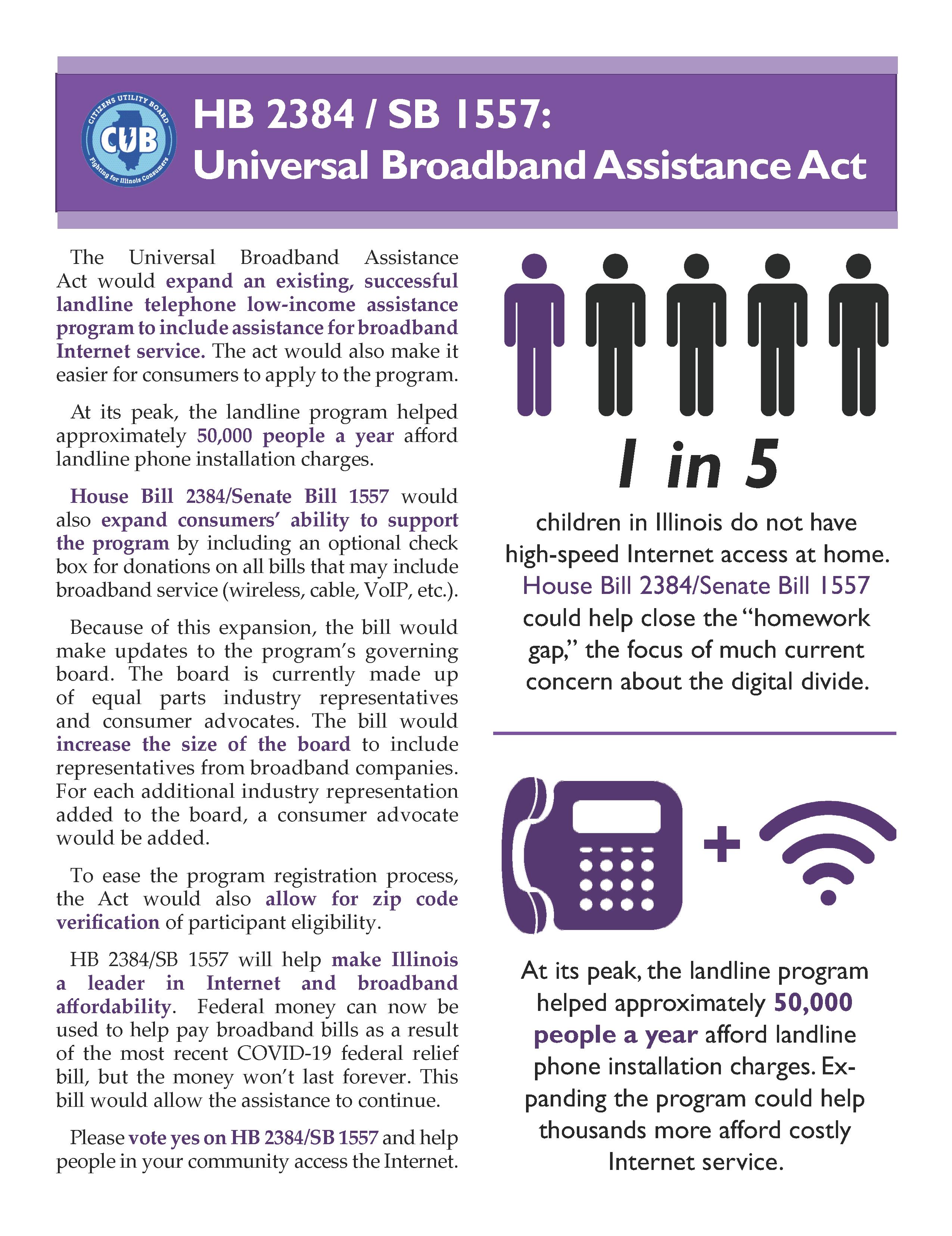 Universal Broadband Assistance Act